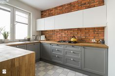 Modern Kitchen Design, Brick, Kitchen Cabinets, Cottage, Shelves, Home Decor, Interior Ideas, Toilet, Future