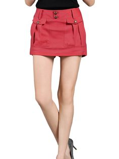 Concise Leisure Pure Color Mid-Waist Fashionable Short Casual Pants on buytrends.com