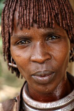Afar Tribe Girl With Necklace And Braided Hair Danakil Ethiopia - Ethiopian new hairstyle