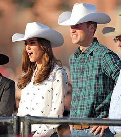 : JULY Their Royal Highnesses the Duke and Duchess of Cambridge watch bull riding during a rodeo demonstration at the BMO Centre at the Calgary Stampede in Calgary Alberta Thursday, July Prince William News, Prince William And Catherine, William Kate, Duchess Kate, Duke And Duchess, Duchess Of Cambridge, Royal Life, Princess Kate, Royal Fashion