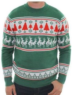 (LINK TO BUY) Inappropriate reindeer and trees ugly christmas sweater! Mens Ugly  Christmas 981aea96aa