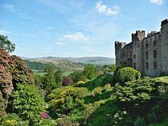 Muncaster Castle gardens in Ravenglass, Cumbria, England, UK