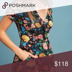5160b1de0417 ANTHROPOLOGIE Bloedel Floral Dress MAEVE 100% New and Real Size 0 Details: Floral  print. Ruffled v-neck. Elasticized waist. Side slant pockets.