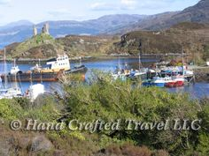 Travel Picture: Day 84. Kyleakin Harbor, Isle of Skye, Scotland. Kyleakin has lost some importance since the construction of the bridge connecting Skye to the mainland, but's still a picturesque place to stay
