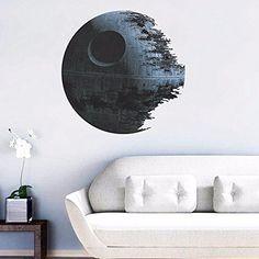 "Star Wars Death Star 18"" x 18"" Wall Sticker, Removable Vi..."