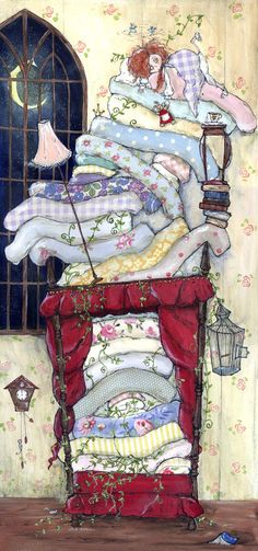 The Princess and The Pea Limited Edition Print by inkyeverafter