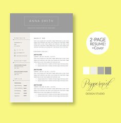 Templates For Resumes Word Fair 2 Page Resume Template With Cover Letter And Photo For Word .