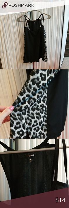 Adorable leopard tank top Size medium, Hurley silky black and white leopard tank top. Excellent  condition Hurley Tops Tank Tops