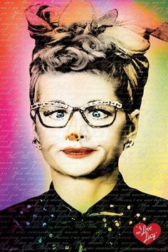 I Love Lucy Words Lucille Ball Poster