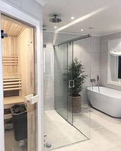 Bygget drømmehuset fra Fiskarhedenvillan Bathroom Inspiration, Decoration, Alcove, Bathtub, Bedroom Sitting Room, Decor, Standing Bath, Bathtubs, Bath Tube