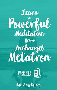 Learn a Powerful Meditation from Archangel Metatron #angel #ArchangelMetatron