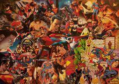 manOfSteel superman dc collage art deco creative leisure