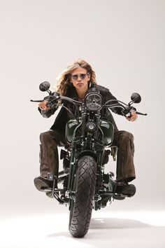 Steven Tyler On Dirico Motorcycle Photo 9