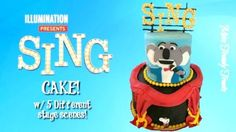 SING MOVIE CAKE w/ 5 DIFFERENT STAGE SCENES!