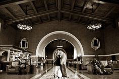 Love at Union Train Station, Los Angeles.  Love the looks of Sepia.