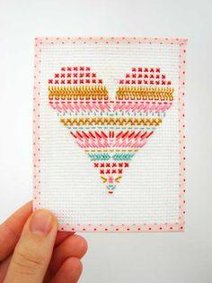 crosstitched valentine