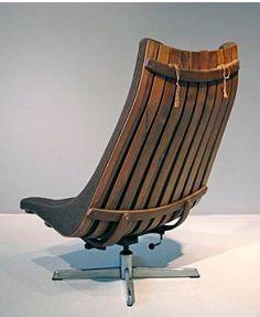 Vintage Hans Brattrud Lounge Chair 1960s