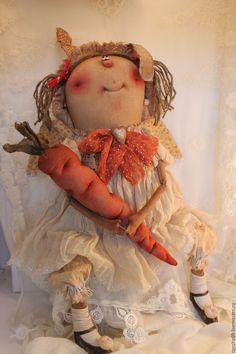 Купить Ангел.Зайка моя! - бежевый, текстильная кукла, ароматизированная кукла, интерьерная кукла, ангелочек