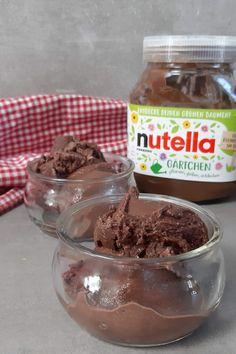 Nutella Eis selber machen ist ganz einfach. Du brauchst nur 5 Zutaten. #nutellaeis #nutella Cereal, Ice Cream, Pudding, Desserts, Sorbet, Breakfast, Diana, Food, Ice