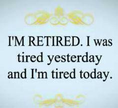 I'm tired....