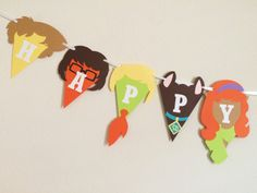 Scooby Doo Happy Birthday Banner Birthday by LetsGetDecorative 6th Birthday Parties, Birthday Party Decorations, 4th Birthday, Birthday Ideas, Scooby Doo Snacks, Bear Party, Happy Birthday Banners, Party Ideas, Card Stock