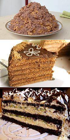 Домашние торты: легкие рецепты.