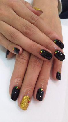 Beautiful Nail Designs, Cute Nail Designs, Fabulous Nails, Perfect Nails, Love Nails, How To Do Nails, Jamaica Nails, Rasta Nails, Nail Candy