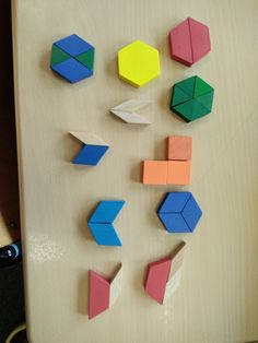 """Making hexagons with pattern blocks"" Greggs, Hexagons, Math Classroom, Pattern Blocks, Twitter"