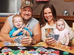 Larry the Cable Guy & family