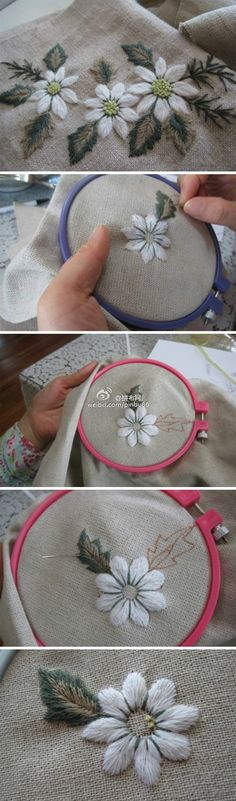 Marvelous Crewel Embroidery Long Short Soft Shading In Colors Ideas. Enchanting Crewel Embroidery Long Short Soft Shading In Colors Ideas. Embroidery Needles, Silk Ribbon Embroidery, Crewel Embroidery, Hand Embroidery Patterns, Vintage Embroidery, Cross Stitch Embroidery, Embroidery Designs, Flower Embroidery, Embroidered Flowers