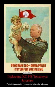 I sekretarz KC PIS Towarzysz Jarosław – Putin jest zadowolony ze swojego człowieka w Europie Everything And Nothing, Best Memes, Funny Pictures, Geek Stuff, Lol, Kawaii, Cats, Peace, Europe