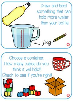 A set of 10 fun, hands-on challenge activities to investigate capacity. Great for reinforcing key vocabulary and concepts. The visual capacity challenge cards also come with a 'Teacher Guide' – ideal for double-sided laminating. Activities include sorting containers relating to capacity and finding out which container will be best for a thirsty Ted to drink from. Why not display our capacity key word cards to reinforce key vocabulary such as full, empty and half full