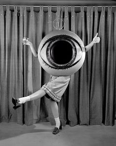 eyeball costume. Great vintage picture