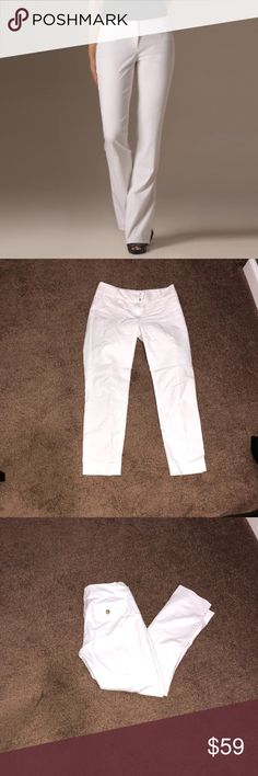 The Limited White Pants It's kind of like a straight leg type of pants. Very classy and perfect for this upcoming spring/summer season. You can find the matching white blazer here in my closet. Bundle this and you'll have the matching set of the blazer and pants. contact me to make a better deal 😊 Happy Poshing! The Limited Pants Straight Leg