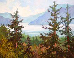 View to Howe Sound Amanda Jones, Community Art, Drawing Trees, Drawings, Painting, Painting Art, Sketches, Paintings, Drawing