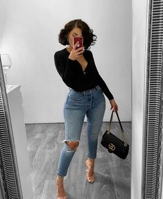 onlypuff Pocket Shirts for Women Casual Loose Fit Tunic Top Baggy Comfy Blouse Cute Casual Outfits, Casual Chic, Stylish Outfits, Girl Outfits, Fashion Outfits, Dress Casual, Dope Outfits, Night Outfits, Black Girl Fashion