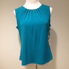 Turquoise blue shell tank top 95% Polyester 5% Spandex Calvin Klein Tops Tank Tops
