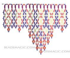 Free pattern for beautiful beaded necklace Folk Dance - 2