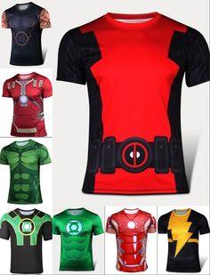 2015 Hombres Del Verano de Compresión Camiseta Hulk 3D Impreso leotardos de manga corta camiseta masculina de la aptitud de los hombres ropa de la tapa