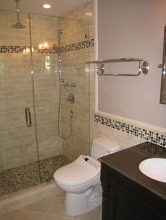Beige Subway Tile Bathroom Contemporary with None                                                                                                                                                                                 More