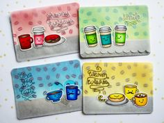 """Artist trading cards """"Coffee every day"""" 