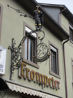 Trompeter, shop sign in Bad Säckingen, Germany by Paul McClure DC, via Flickr