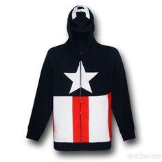 Marvel Captain America zip up hoodie...