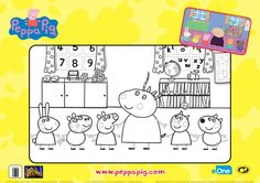 Peppa Pig Classroom Coloring Page