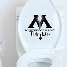 Ministry of Magic This Way Vinyl Decal Harry Potter Sticker Wall Quote Art Wall Stickers Home Decoration 25CM In Height-in Wall Stickers fro...