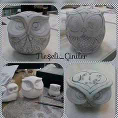 #ceramic #tile #handmade #handpainted #owl #mydesign #instagram #instagood #instalike #byneshka #çini #elboyama #çiniboyama #benimtasarimim #tahrir #baykuş #çinibaykuş #çinibiblo