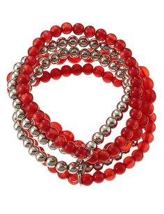 accessory PLAYS® NCAA University Of Nebraska Five Row Stretch Bracelet