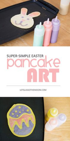 Easter Pancake Art: