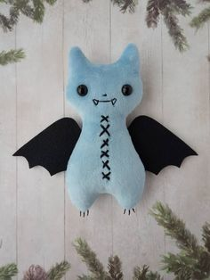 Plush bat toy, Cute doll handmade Stuffed bat Creepy cute animal Bat plushie Goth decor Halloween to Rabbit Halloween, Halloween Toys, Creepy Stuffed Animals, Dinosaur Stuffed Animal, Creepy Halloween Decorations, Cute Bat, Witch Decor, Cute Plush, Creepy Cute
