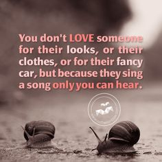 You don't love someone for their looks, or their clothes, or for their fancy car, but because they sing a song only you can hear. ~ Oscar Wilde   50+ True Love Quotes | Cuded